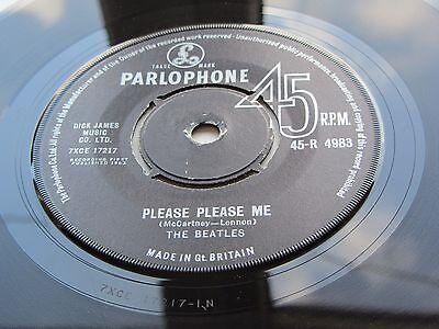 THE BEATLES ORIGINAL  1963 UK 45   PLEASE PLEASE ME EXCELLENT