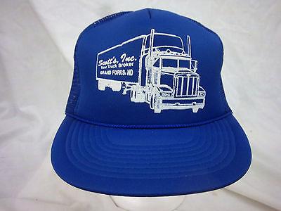 trucker hat baseball cap SCOTTS INC GRAND FORKS ND retro snapback cool mesh 1980 Scott Mesh Cap