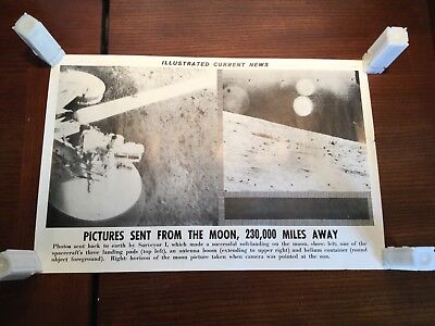 Illustrated Current News Photo - Pictures Sent From the Moon Surveyor 1 I Land