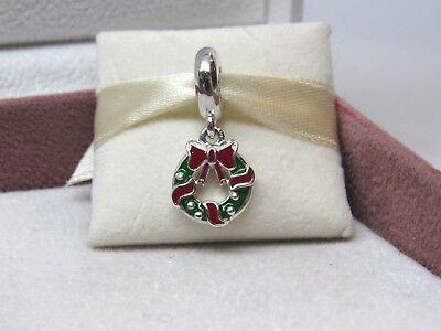 New w/Box Pandora Holiday Wreath Christmas DangleCharm 796362ENMX Winter Holiday