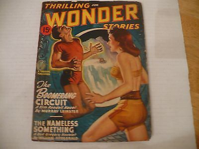 THRILLING WONDER STORIES (A NICE PULP!)  6/47 -TALES BY TED STURGEON-M LEINSTER