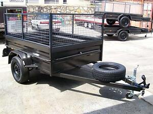 Aust Built 8x5 H/D Cage Box Trailer With 6 Leaf Leds Jockey Spare Yennora Parramatta Area Preview