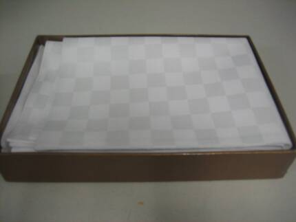 Vue White Chequer Placemats 4 Gymea Sutherland Area Preview