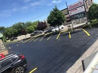 Driveway sealing and line painting
