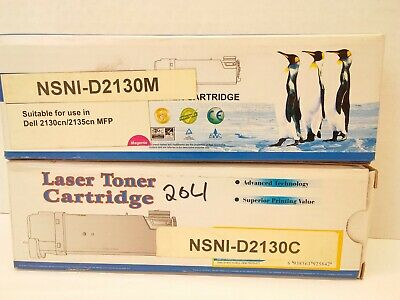 Laser Toner Cartridge Compatible with Dell 2130cn/2135cn  Magenta & Cyan **NEW** 2135cn Magenta Toner