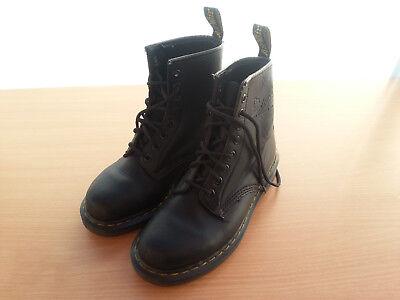 Dr. Martens AIR WAIR - Damen/Mädchen Boots Leder Schuhe Stiefel Gr. 38 - SCHWARZ