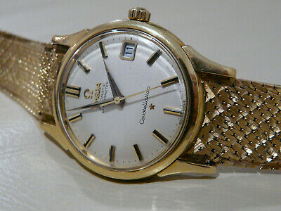OMEGA Mens 18k Gold Constellation Date Automatic With 18k Bracelet C1961
