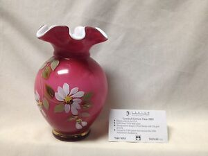 FENTON-GLASS-HANDPAINTED-WILD-ROSE-VASE-7688-WM