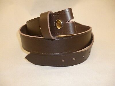 Brown Classic Press Stud Belt Hand Made Real Leather Made in England 38mm xl xxl