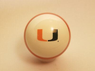Miami Hurricanes Shift Knob Billiard Pool Ball Threaded Gear Shifter NCAA