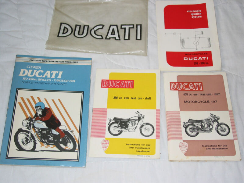 DUCATI 350cc and 450 Motorcycles 197 Original Motorcycle Handbook and more LOT