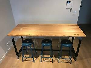 Industrial Wooden Dining or Bar Table Custom Made Work Bench Prahran Stonnington Area Preview