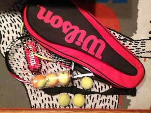 2 NEW racquets, balls, bag
