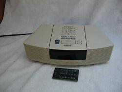 Bose Wave Radio CD Player Alarm Clock Model AWRC-1P WORKING! WHITE. REMOTE