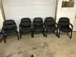 5 Leather Type Office Chairs
