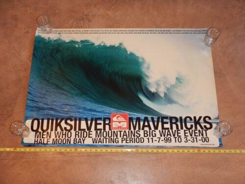 VINTAGE, ORIGINAL 1999 - 2000 MAVERICKS SURF CONTEST PROMOTIONAL POSTER