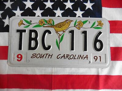 US SOUTH CAROLINA TBC116 BIRD AUTO CAR KENNZEICHEN NUMMERNSCHILD PLATE DEKO USA