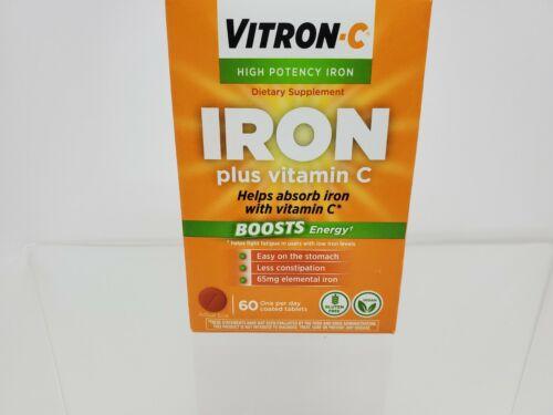 Vitron-C High Potency Iron Supplement Plus Vitamin C 60, 8/2