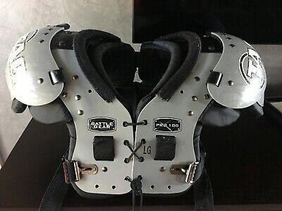 "Battle Gear TAG Football Shoulders Pads Pro 100 LG 15""-16"""