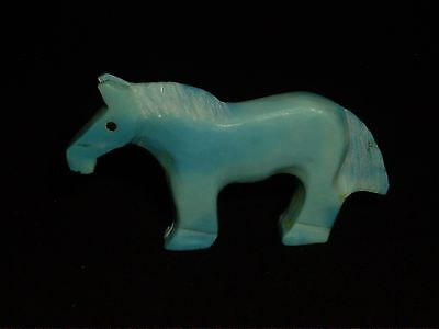 Turquoise Horse-Zuni Fetish-Native American-Stone Carving-Carol Martinez