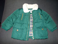 M&s Fully Lined Padded Zipper Fasten Jacket 3-6mths 69cm Teal Mix Bnwot - marks and spencer - ebay.co.uk