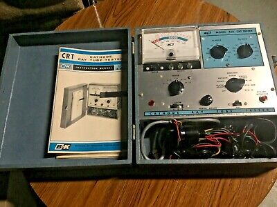 1966 Bk Model 465 Crt Cathode Ray Tube Tester Dynascan Corp W Accessories Works