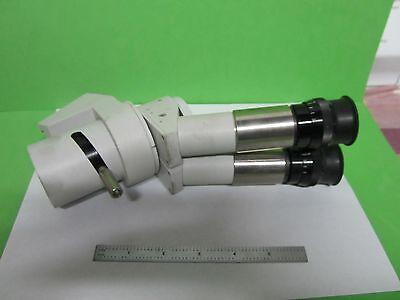 Moeller Moller Wedel Germany Binocular Head Microscope Optics As Is Binu8-h-02
