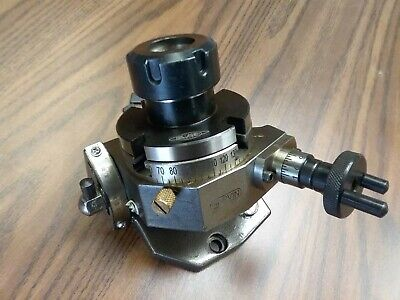 3 Tilting Rotary Table W. Er32 Collet Chuck Adapter Ttsk-75er32- New