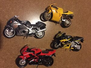 Maisto Motorcycle Models (X4)