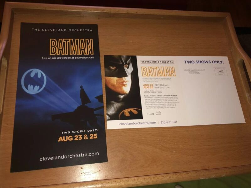 Batman (1989 Film Airing)with Cleveland Orchestra 2-sided 2019 Ad/Flyer