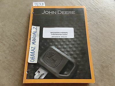 John Deere 710d Backhoe Loader Operators Manual Omt164842