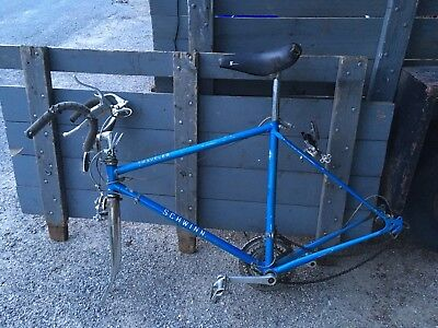 Vintage Schwinn Traveler Road Racing Bike Frame + Accessory For Exercise Bike