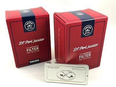 VAUEN Dr. Perl Pfeifen Filter 2 x 180 9mm Filter Junior 360 Stück + Gratis Box