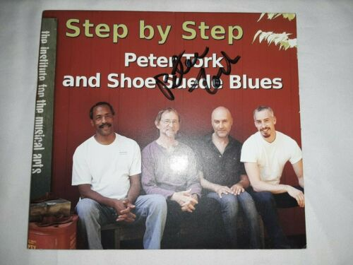 Signed Autographed Peter Tork Shoe Suede Blues Step by Step cd- The Monkees