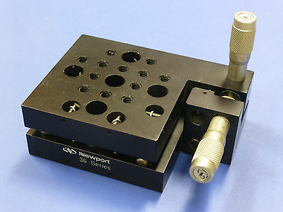 Newport 36 Tilt And Rotation Stage Platform With Sm-13 Micrometers