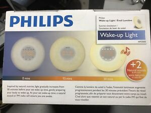 Philips Wake up light details in pictures