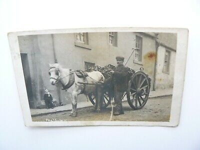 Real Photo Postcard showing Rag and Bone Man - Edinburgh - John Allan Lowestoft