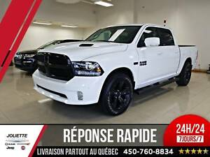 2018 Ram 1500 Sport, NIGHT EDITION, CREW, 4X4, CUIR, TOIT, NAV