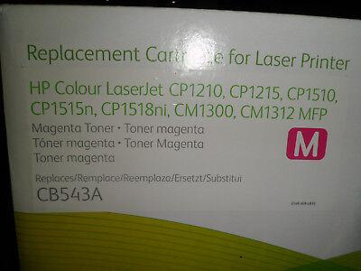 Cartouche toner encre imprimante laserjet xerox hp, cb543a magenta