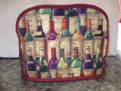 Lots of Wine Bottles Handmade 2 slice toaster cover Susan Winget cotton (ONLY)