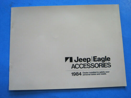 1984 JEEP EAGLE ACCESSORIES CATALOG  BROCHURE ORIGINAL 15  PAGES