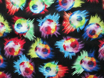 Soccer Ball Futbol Sports Olympics Fifa Hot Colors Cotton Fabric BTHY