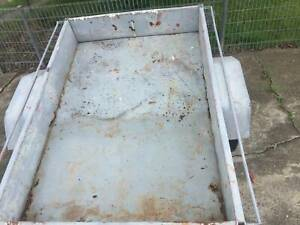 box trailer 6x4 no rego no vin tows wellhas wireing & plug but n