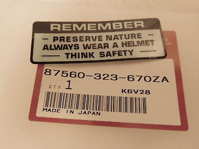 HONDA CR500 CR500R SWINGING-ARM CAUTION WARNING DECAL