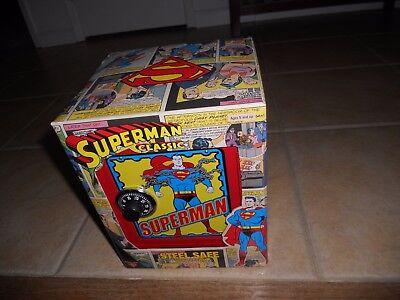 2001 Superman Classic Steel Safe With Combination-Lock And Alarm-NIB