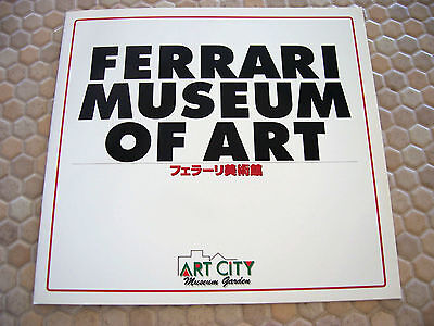 FERRARI MATSUDA OFFICIAL MUSEUM OF ART ISSUED BROCHURE JAPAN 1997