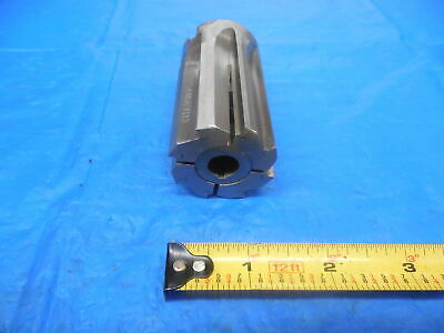 1 1//4 Diameter 8 Flute Carbide Tipped Expansion Reamer with Morse Taper #4 Shank