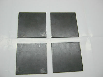 "1/2"" .500 STEEL PLATE SHEET 1/2"" x 4"" x 4"" A36 (4 Piece Set)  for sale  Houston"