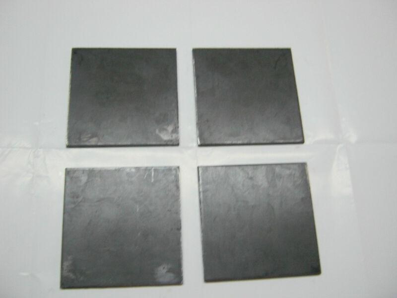 """1/4"""" .250 STEEL PLATE SHEET 1/4"""" x 6"""" x 6"""" A36 (4 Piece Set)"""