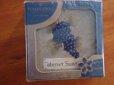 Grapes Coaster (Set of 6 Pimpernel